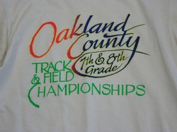 First ever county meet t-shirt. Image courtesy of Mary Lou Hurych